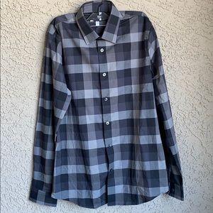 Express Extra Slim Checkered Dress Shirt